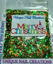 Limited Edition Glitter Mix~Merry Christmas* Comes With Alloy~ Nail Art