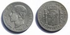 N154 SPAIN 1883*83. ALFONSO XII. MSM. 2 PESETAS (AC. 32). 10,06 g. CALICO 33.