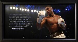 Anthony Joshua Framed Photo Motivational Poster