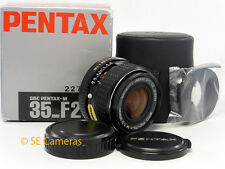 SMC PENTAX M 35MM F2 PENTAX PK MOUNT WIDE LENS PRISTINE CONDITION & RARE