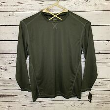 Spalding Performance Basketball Shirt Green Long Sleeve Dri Power Men's Xl D17