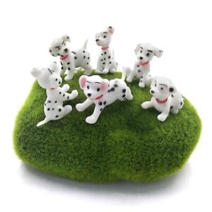 6x Disney 101 Dalmatians Cake Toppers Mini Puppy Spotted Dog Puppies Figures NEW