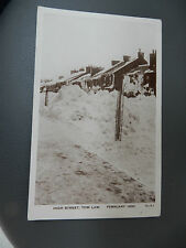 More details for tow law  snow storm aftermath  1933  antique  postcard   n