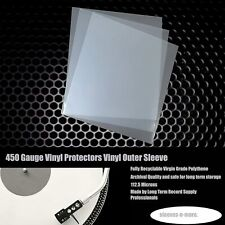 """100 7"""" Inch 450g Gauge Vinyl Single Plastic Polythene Outer Record Sleeves"""