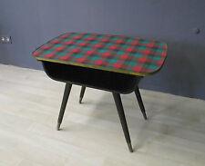 Beistelltisch Tisch Karo Holz vintage Design Entwurf 50er 50s mid century modern