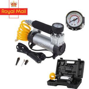 12V Portable Car Air Compressor 100PSI  Heavy Duty Tyre Auto Tire Inflator Pump