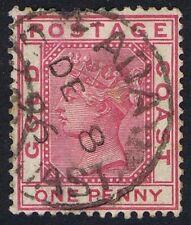 Gold Coast 1884 1d Rose-Carmine SG12 Fine ADA CDS.