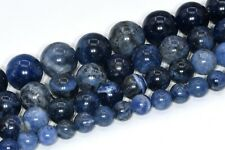 Natural Sodalite Grade AAA Round Gemstone Loose Beads 3/4/6-7/8/10/12/15-16MM