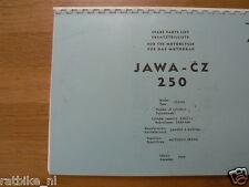 J0007 JAWA--CZ-ERSATZTEILLISTE JAWA-CZ 250 TYPE 353/04----MODEL 1959