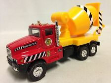"Construction Truck, Cement Mixer Truck, 5.5"" Diecast, Pull Back Action, Toy Red"