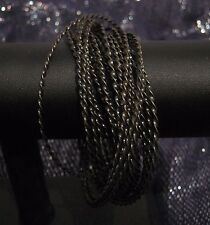 Wonderful interlocking multiple dark metal bangle style bracelets approx 2½ ins