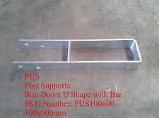U Shape,Hot dip galvanised steel post supports,Rod Stem L Stirrup,T Blade