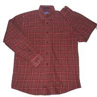Pendleton Men's Sz XL Canterbury Cloth Shirt Merino Wool Blend Button Down Plaid