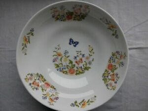 LOOK Extremely Pretty Vintage Fruit Nut Pot Pourri Bowl Floral Butterfly White