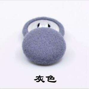 100pcs/bag Cashmere Wool Fabric Covered Dome Metal Loop Buttons Coat Sweater Diy