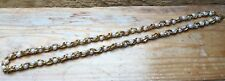 Vintage Chunky Gold Link & Pearl Necklace/Chain/Retro/1970's/80's/Metal/Chunky