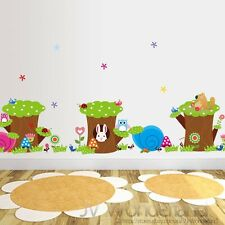 New Animals Tree Stumps Rabbit Owl Removable Kids Wall Stickers Decal Nursery