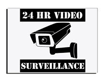 24HR CAMERA VIDEO SURVEILLANCE DOOR - FENCE- GATE WARNING SIGN FREE UK DELIVERY