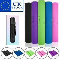 6mm PVC Foam Yoga Mat Exercise Fitness Gym Workout Mat Physio Pilates Non-Slip