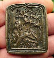 Sceau Moule Bijou Bronze Ancien Inde Déesse Divinité Hindou Antique Indian Seal