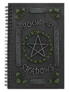 Nemesis Notebook Ivy Book Of Shadows Journal With Pentagram Resin Cover 15x22cm
