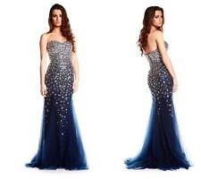 Navy Embellished Prom Dress BRAND NEW Size 8 evening gowns