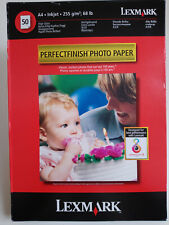 50 Sheets A4 Inkjet High Gloss Perfectfinish Lexmark Poto Paper 255g/m 68lb