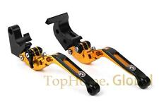 Folding Extending Brake Clutch Levers For Yamaha YZF R125 2008-2011 CNC Gold