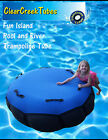 Colossal Fun Island River Pool Lounge Float Inner Tube