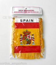SPAIN SPANISH MINI POLYESTER INTERNATIONAL FLAG BANNER 3 X 5 INCHES
