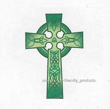 GREEN CELTIC CROSS Temporary Tattoo CLEARANCE