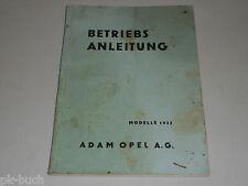 Betriebsanleitung Handbuch Opel Olympia 1,3 Liter, Stand 06/1935