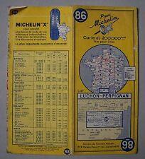#) carte MICHELIN 86 LUCHON - PERPIGNAN 1962 - 2