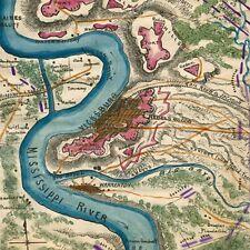 29 Civil War Maps of Vicksburg Mississippi Ms on Cd