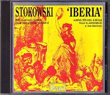 Leopold STOKOWSKI: IBERIA: BIZET Carmen FALLA El Amor Brujo ALBENZ CD PEARL 1997