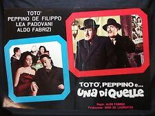 FOTOBUSTA CINEMA - TOTÒ, PEPPINO E UNA DI QUELLE - TOTÒ - 1953 - DRAMMATICO -02