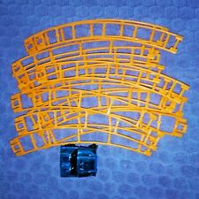 14 Micro K'nex Roller Coaster Orange Curved Track Pieces + Blue Metallic Car