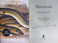 Signed Book Waterland by Graham Swift Hardback 1st Edn of new edition 2019