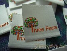1000pcs multi-color Custom Printed Satin Label for Clothing/ handmade/ Dressing