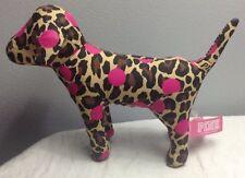 VICTORIA'S SECRET PINK POLKA DOT LEOPARD PLUSH DOG NEW