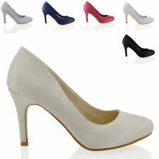 Satin Party Court Shoes for Women