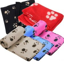 Paw Print Pet Fleece Soft Blanket Dogs Cat Puppy