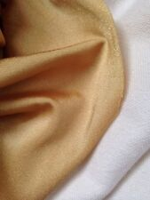 """9 Metres Gold Lycra / Spandex Dance & Dress Stretch Fabric Material 54"""" Wide"""