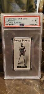 1930 Singleton & Cole Panama AL BROWN #2 PSA 4 Famous Boxers