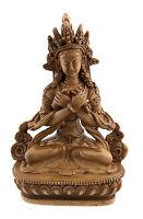 Estatua Tibetano Buda Vajradharma De Resina A 15 cm-Beige Café -349-C9