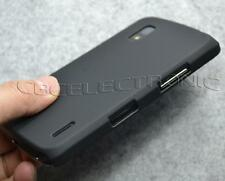 New Black Rubberized hard case back cover for LG Nexus 4 Optimus Nexus E960