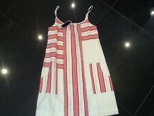 NWT Juicy Couture New Gen.Ladies Size Small Red/Cream Cotton Sun Dress UK 8/10