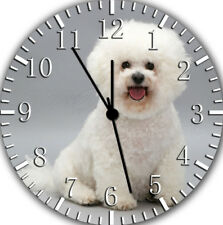 Cute Bichon Frise Wall Clock Nice For Gift or Home Office Wall Decor F39