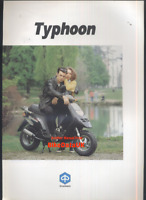 "Piaggio 50 80 125 Typhoon (1990's) Original Sales Brochure ""New Old Stock"" CA81"