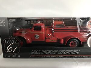 Highway 61 50185 Chevy Fire Truck 1/16 Mint & Boxed Rare